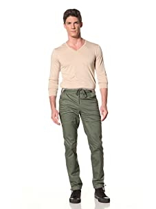 Yigal Azrouël Men's Washed Cotton Pant (Cypress Military Green)