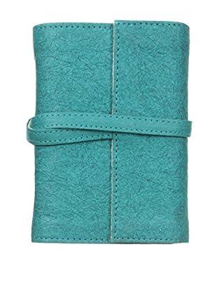 Marina Vaptzarov Small Vegetal Leather Cover Travel Diary, Teal