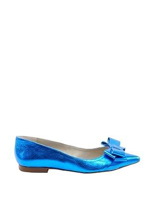 Misu Bailarinas punta (Azul Eléctrico metalizado)