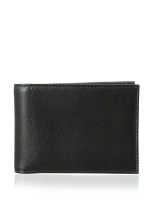 Bosca Men's Field Small Bifold Wallet (Black/Mora)