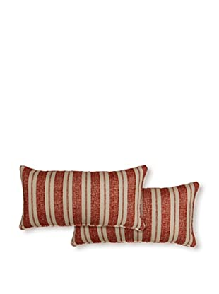 Dakota Set of 2 Borderline Pillows (Tamale)