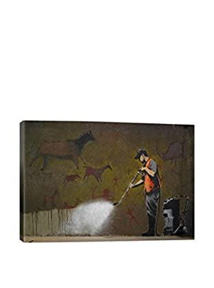 Banksy Cave Painting Giclée On Canvas