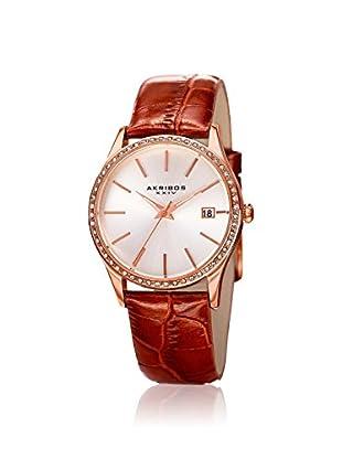 Akribos XXIV Women's AK883BR Lux Brown Leather Watch