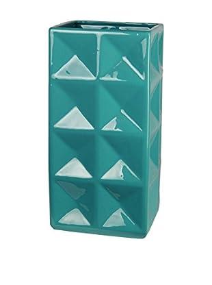 Privilege, Inc. Ceramic Vase, Turquoise