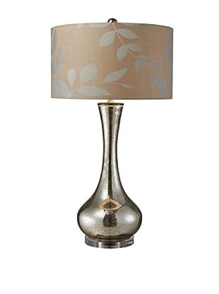 Artistic Lighting Orion Table Lamp, Antique Mercury/Cream