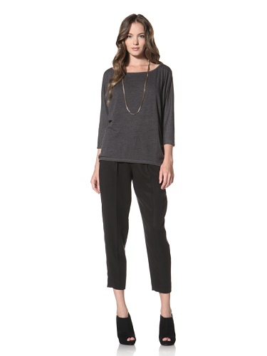 Nation LTD by Jen Menchaca Women's Coral Gables 3/4 Sleeve T-Shirt (Heather Charcoal)