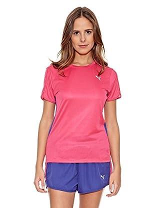 Puma Camiseta Pe Running S/S W (Fucsia)
