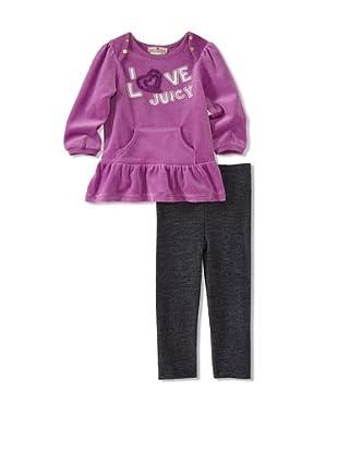 Juicy Baby 2-Piece Legging Set (Purple/Denim)