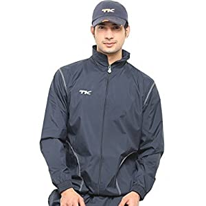 TK Sports Wind Breaker and Wind Cheater Jacket, Men's Large (Navy Blue)