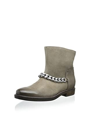 Vic Women's Bootie with Oversize Chain (Wood/Grey)