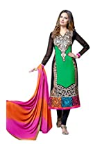 TEXCLUSIVE STRAIGHT FIT SEMI-STITCHED DRESS MATERIAL