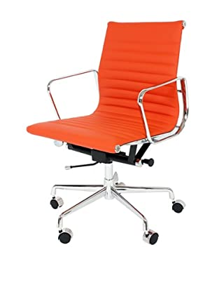 Control Brand Mid-Century Leather Executive Office Chair, Orange