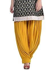 Sohniye Women's Viscose Patiala [GAKP11_Beige_Free Size]