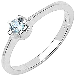 Classic Solid Topaz Silver Ring by Johareez.com