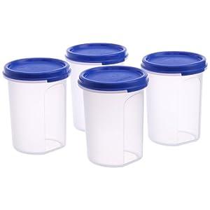 Tupperware MM Round Container Set, 440ml, Set of 4