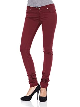 Heartless Jeans Pantalón Vaquero Cherry Burgundy (Burdeos)