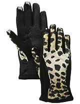 Isotoner Women's Smartouch Matrix Nylon Glove, Leopard, X-Large