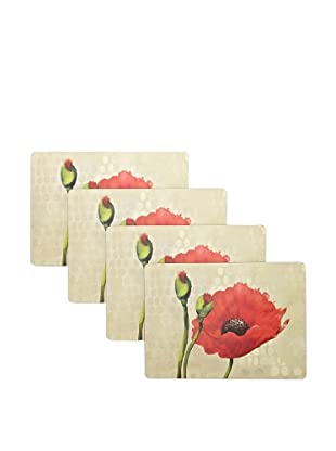 RockFlowerPaper Poppies Hard Placemat (Set of 4)