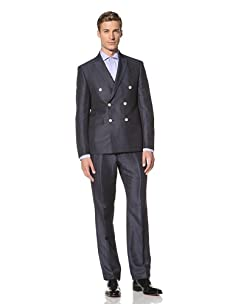 Tallia Men's Vilas Double Breasted Suit (Denim)
