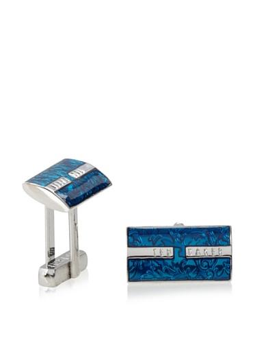 Ted Baker Men's Shier Floral Cufflink (Blue)