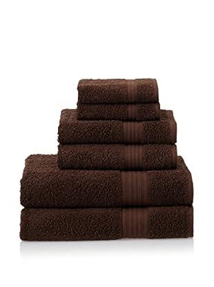 Chortex 6-Piece New Savannah Towel Set, Chocolate