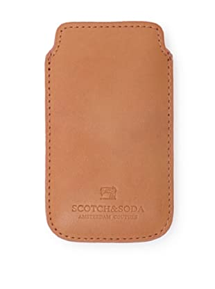 Scotch & Soda Men's Leather iPhone Sleeve (Tangerine)