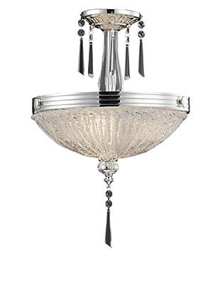 Artistic Lighting 3-Light Semi-Flush Pendant, Polished Silver