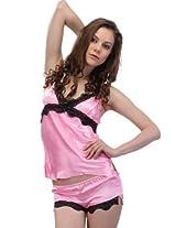 Honeybumm Women Nightwear PINK/BLACK