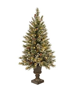 National Tree Company 4' Glittery Bristle Pine Entrance Tree