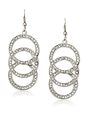 Kenneth Jay Lane Sparkling Triple Circle Drop Earrings
