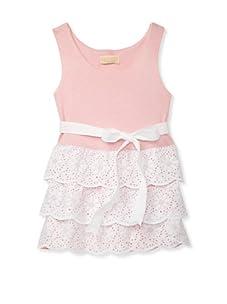 Lunchbox Girl's Eyelet Dress (Pink)