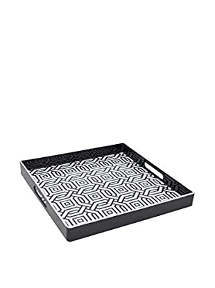 Three Hands Geometric Tray, Black/White