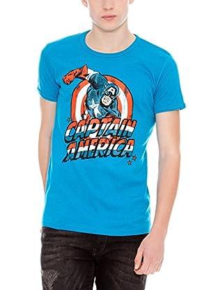 Logoshirt Camiseta Ajustada Marvel Capitán América Turquesa XS