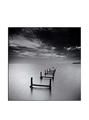 Broken Jetty Photography On Mounted Metal
