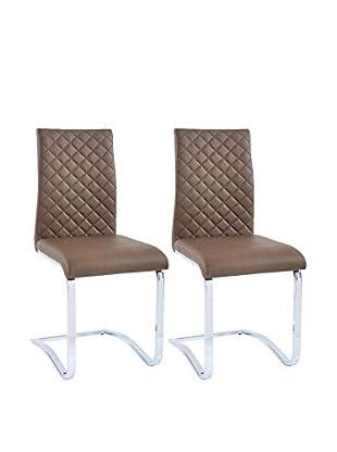 Modern Loft Stuhl 2er Set Margaret A3