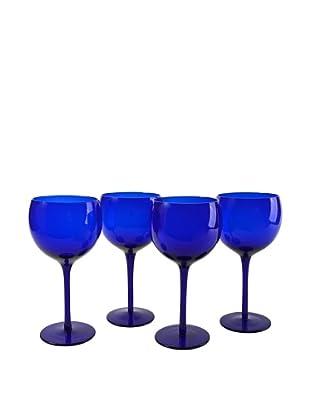 Set of 4 Midnight Blue 18-Oz. Balloon Glasses