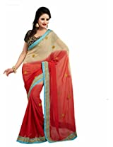 TrynGet Viscose Saree (22 New_Pink)