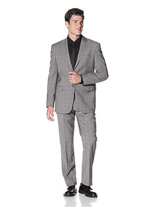 Yves Saint Laurent Men's Plaid Suit (Black/White)