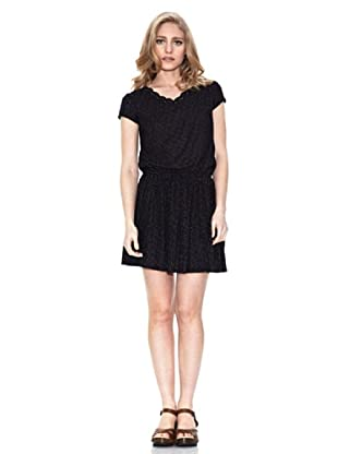 Springfield Vestido Plisado All Over (Negro)