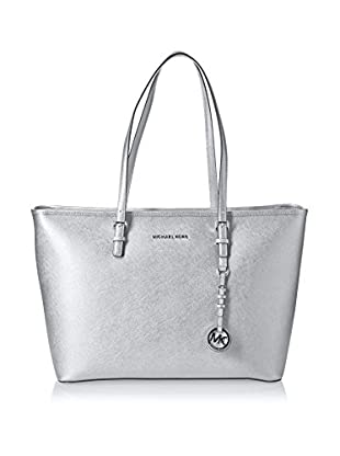 Michael Kors Bolso shopping Jet Set Travel Medium Metallic Saffiano Tote
