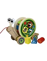 Hape - Walk-A-Long Snail Toy