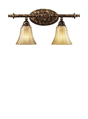 Trump Home Bedminster 2-Light Vanity in Burnt Gold Leaf