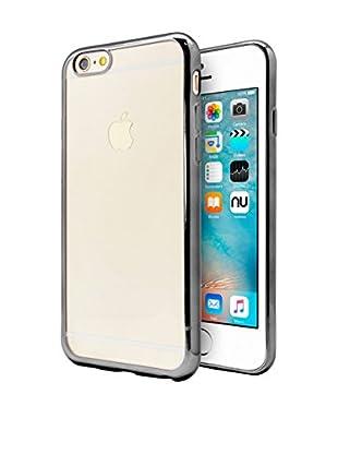 NUEBOO Hülle TPU Gel iPhone 6/6S Color Frame schwarz
