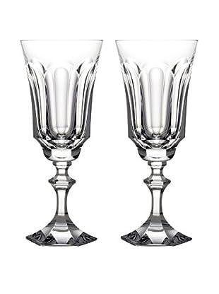 Rogaška Set of 2 Royal Wine Glasses, Clear