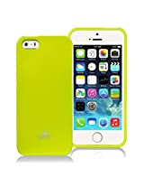 iPhone SE Case, [Low Profile] for Apple iPhone 5SE, [Pearl Glitter] MERCURY® Jelly Case TPU Case [Drop Protection] Ultra Slim TPU Case Cover [Anti-Yellowing / Discoloring Finish] - Lime