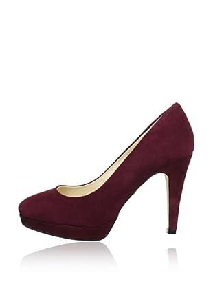 Buffalo London 325493 KID SUEDE 141487 - Zapatos de tacón de cuero  mujer (Rojo)