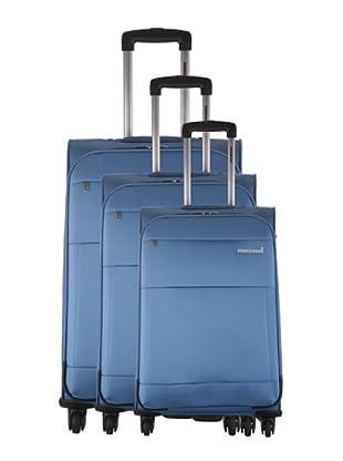 Platinium Set 3 trolley 4 ruote Cargese (Blu)