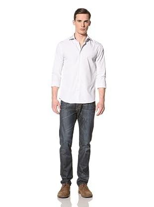 Scotch & Soda Men's Stipe Shirt with Cutaway Collar (Blue/White)