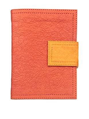 Marina Vaptzarov Small Soft Vegetal Leather Cover Travel Diary, Red/Orange