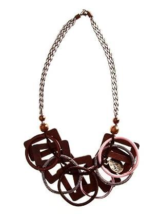 Custo Collar Time  rosa / marrón